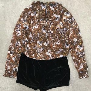 (NWT) LUCCA | Vintage Style Floral Print Romper